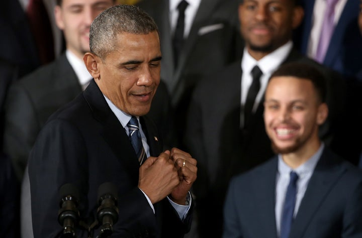 President Obama Rips on Steph Curry During Visit to White House