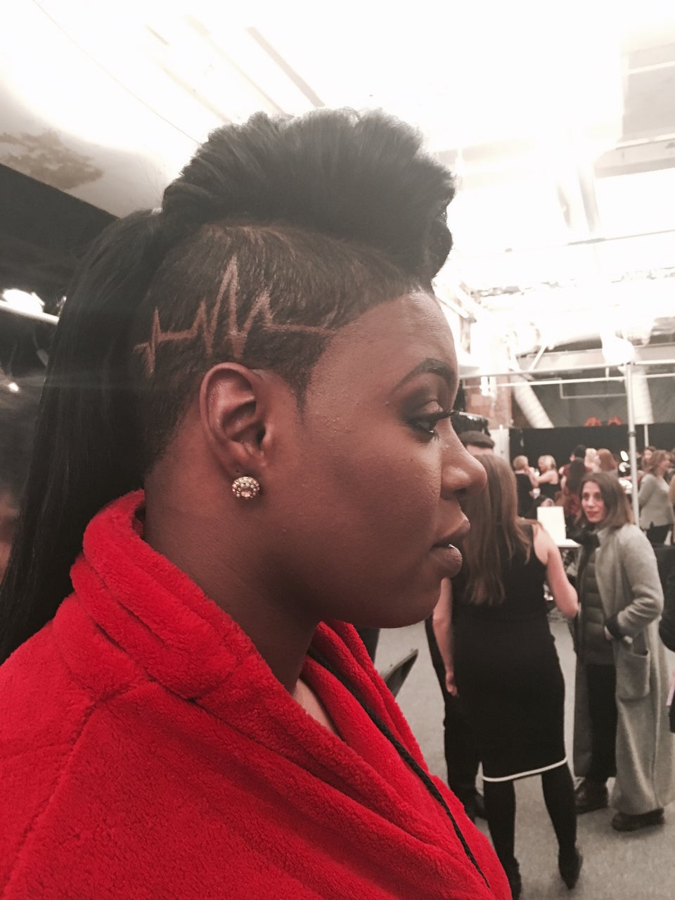 'Empire's' Ta'Rhonda Jones Wears Shaved Heartbeat on Head For Go Red for Women Dress Show