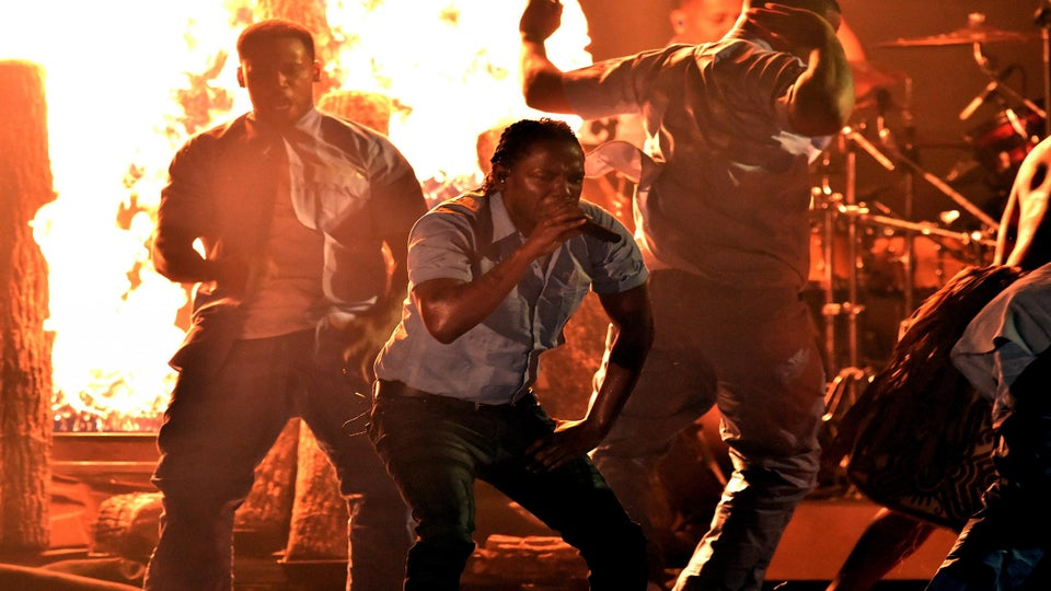 Message! Kendrick Lamar Delivers Explosive, Politically Charged Performance At The Grammys