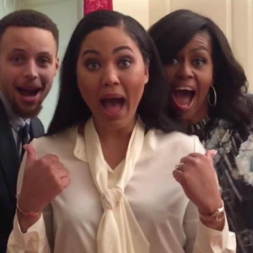 Ayesha, Stephen Curry Team Up With Michelle Obama For The Cutest Dubsmash