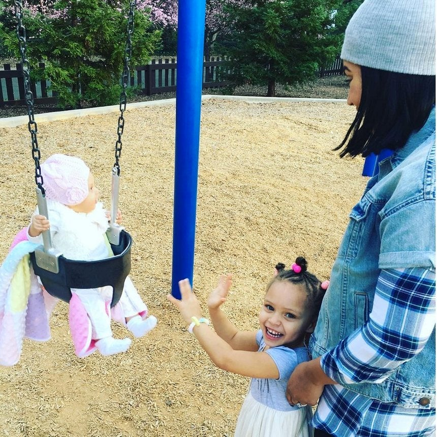 The Curry Family's Fun Time at a Playground