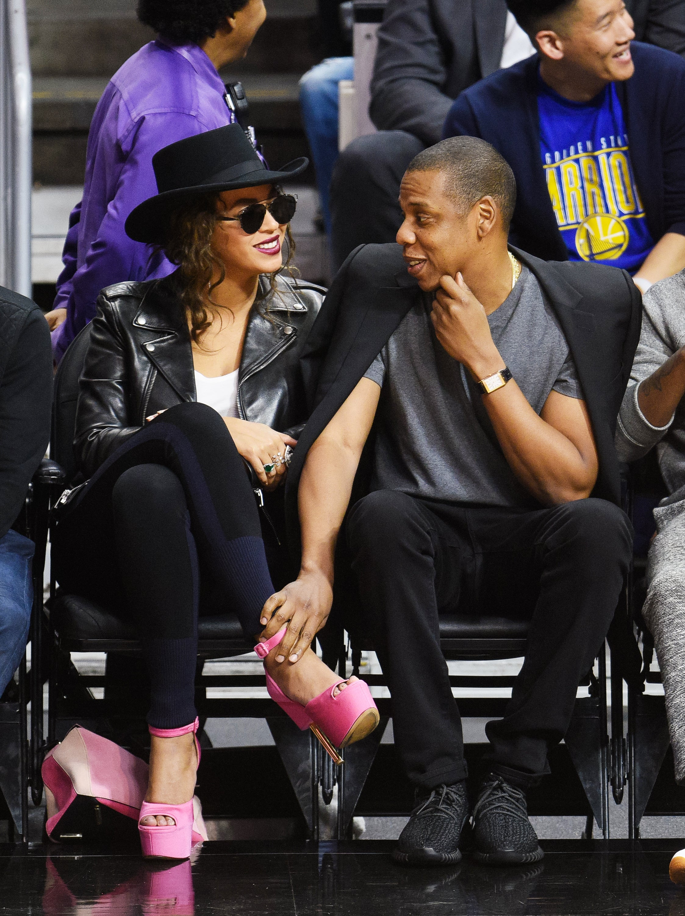 Best Photos Of Beyonce and Jay Z Courtside at NBA Games Over