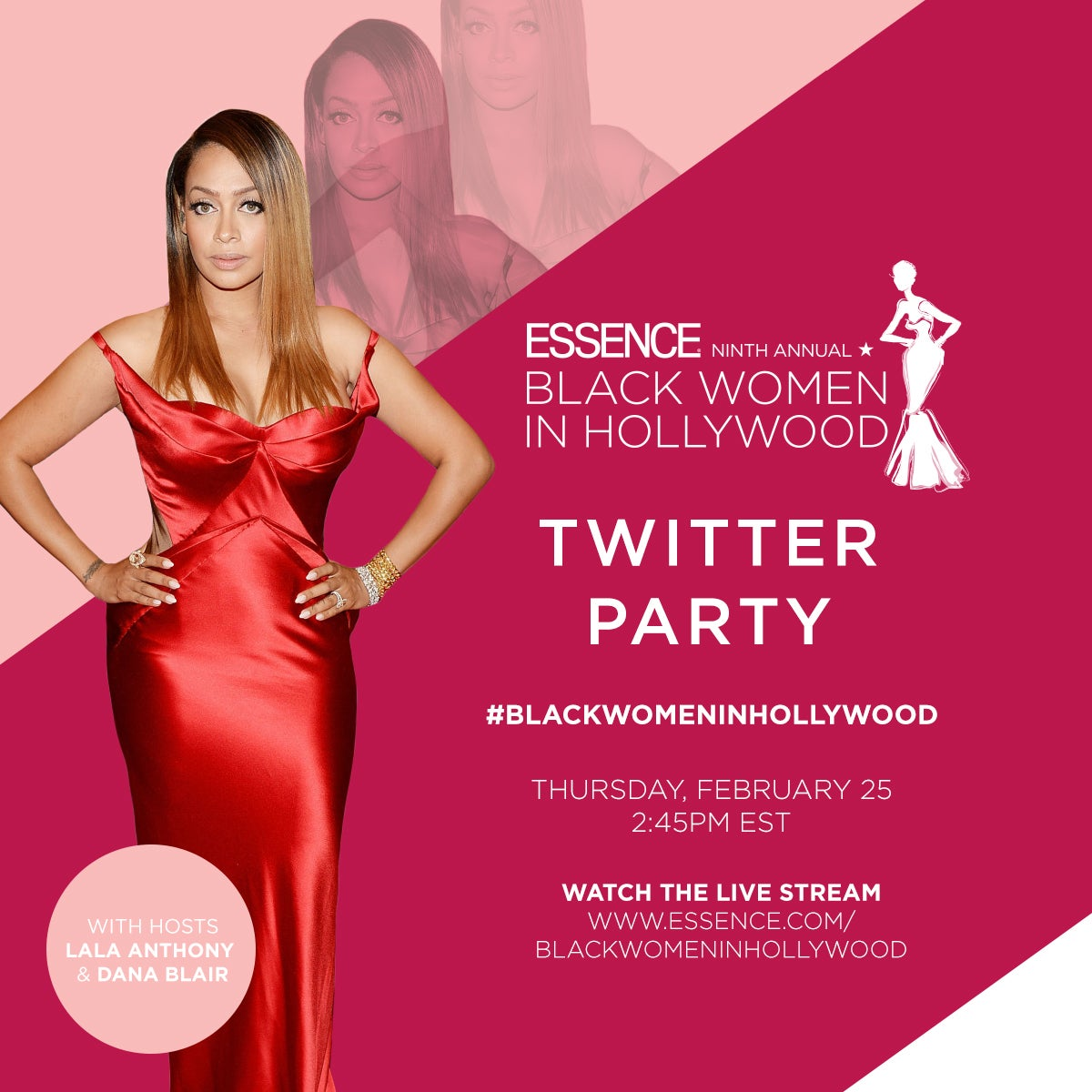LaLa Anthony to Host ESSENCE Black Women in Hollywood Red Carpet Livestream Today!