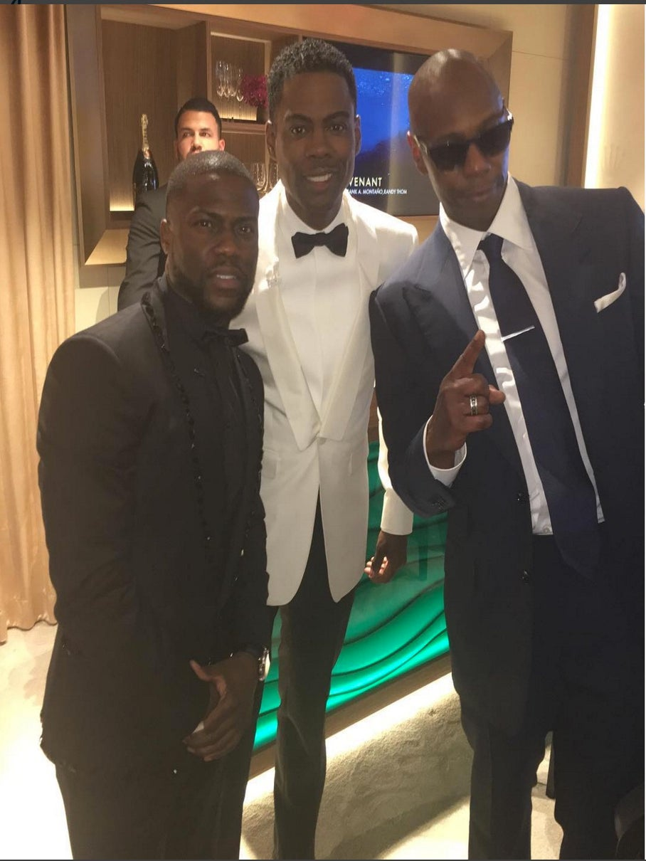 Kevin Hart, Chris Rock and Dave Chappelle Hang Tight at the Oscars