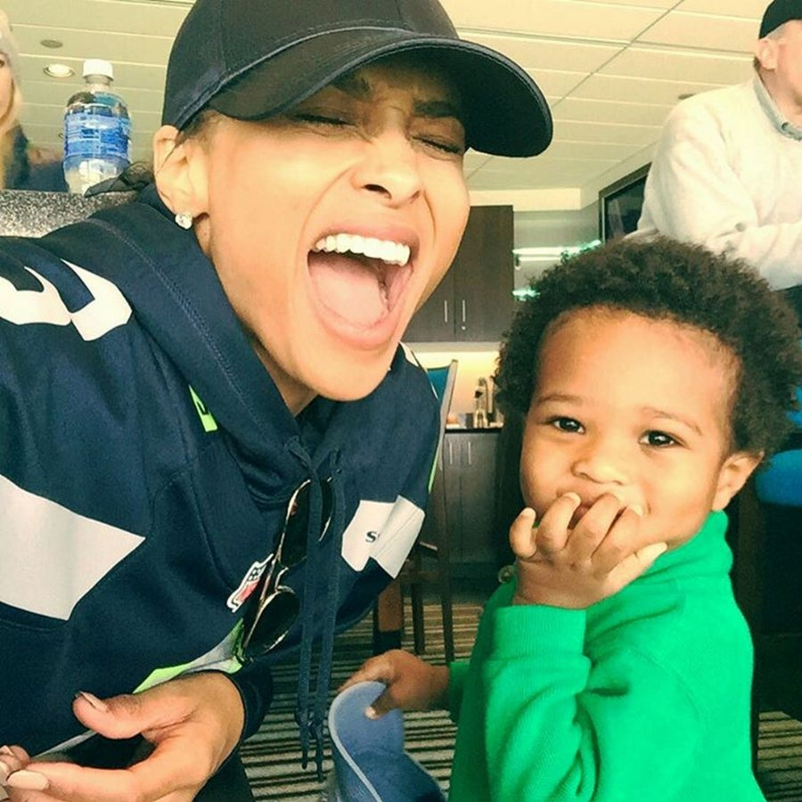 Ciara's Son Swerves in His Little G-Wagon