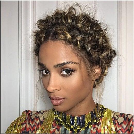 Ciara's Paris Fashion Week Braided Crown Is Everything!