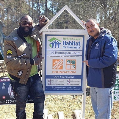 Rick Ross Gives Back With Habitat For Humanity