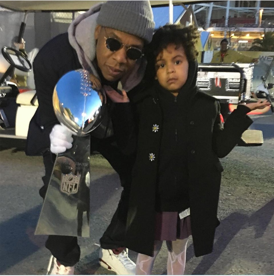 Beyoncé Shares Cute Pics of Blue and Jay Z