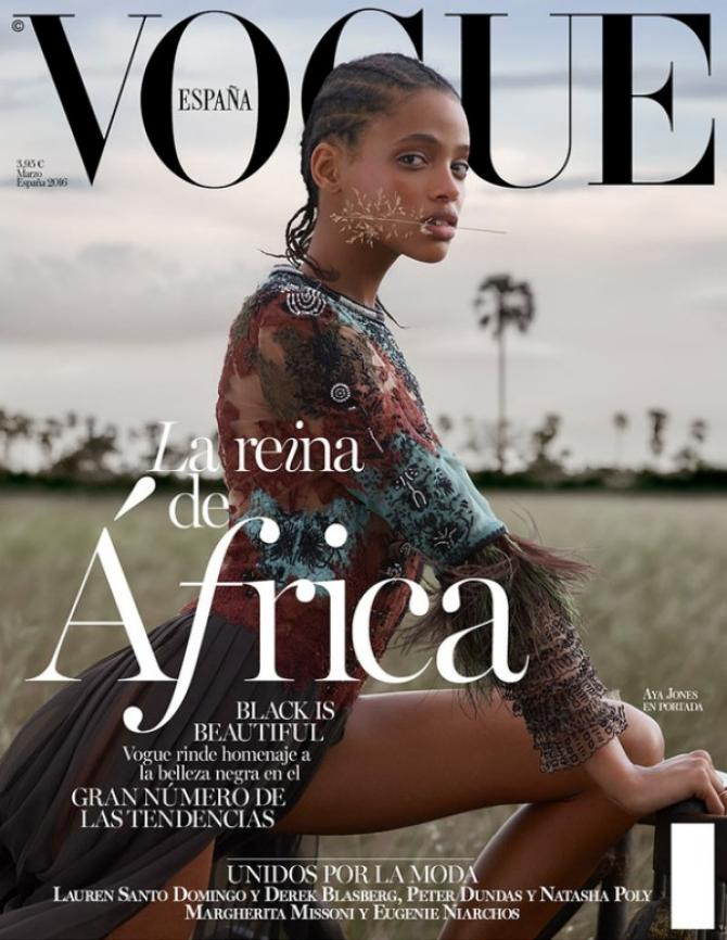 Vogue Spain Puts Model With Cornrows on Cover, Says 'Black Is Beautiful'