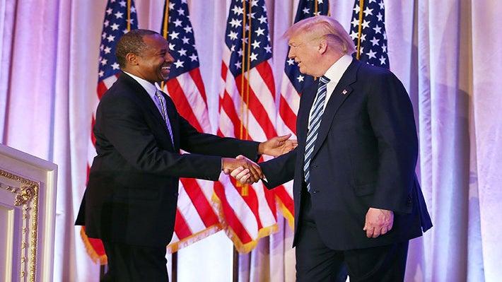 Donald Trump Taps Former Campaign Rival Ben Carson as Housing Secretary