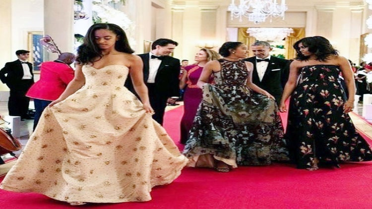 Reporter Comments on Cost of Malia and Sasha's State Dinner Dresses, Internet Schools Her