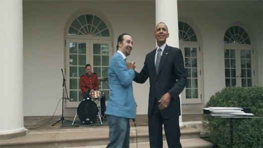 President Obama Assists 'Hamilton' Creator in Amazing Freestyle