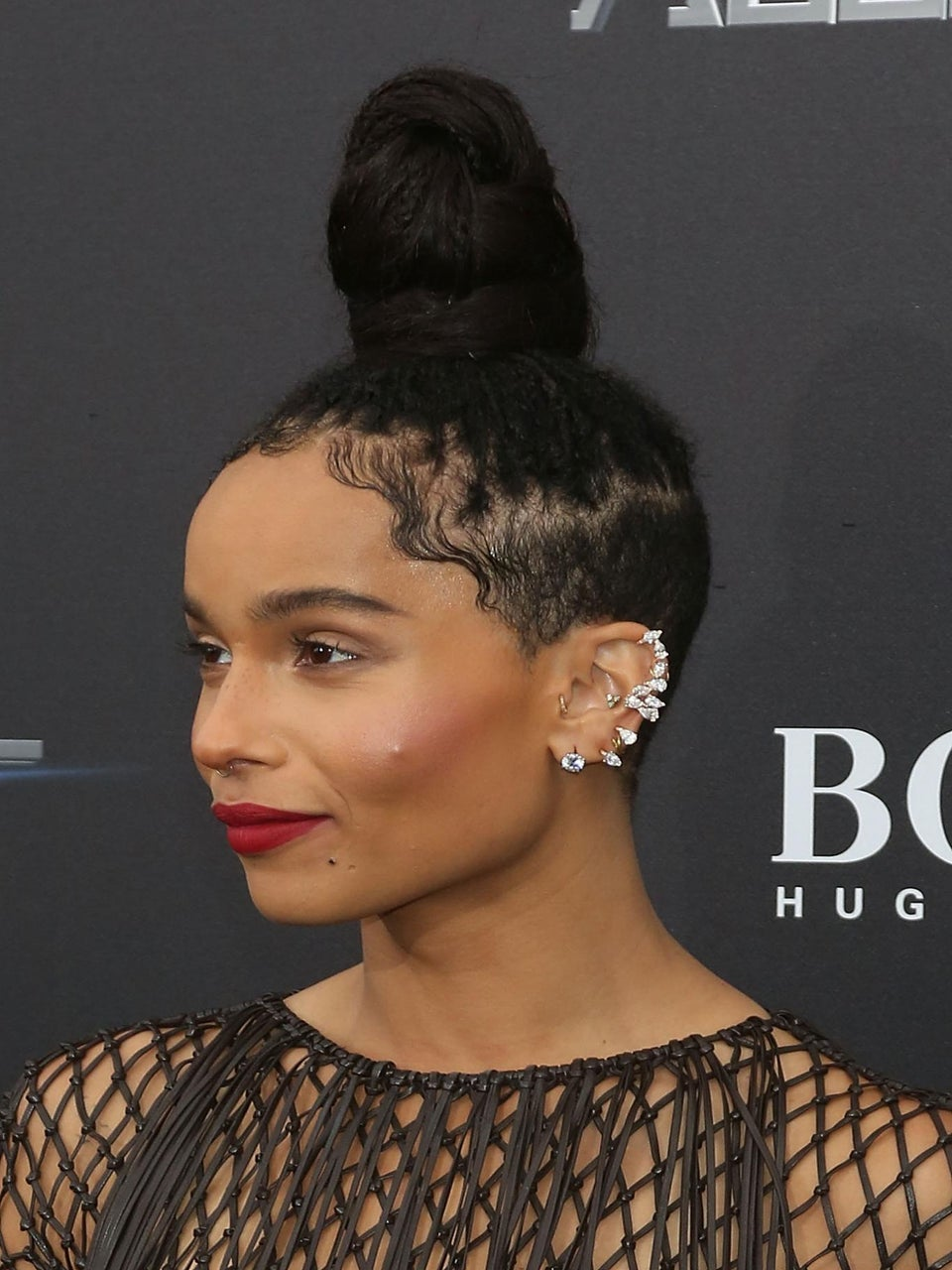 You'll Never Guess The Height of Zoe Kravitz's Top Knot