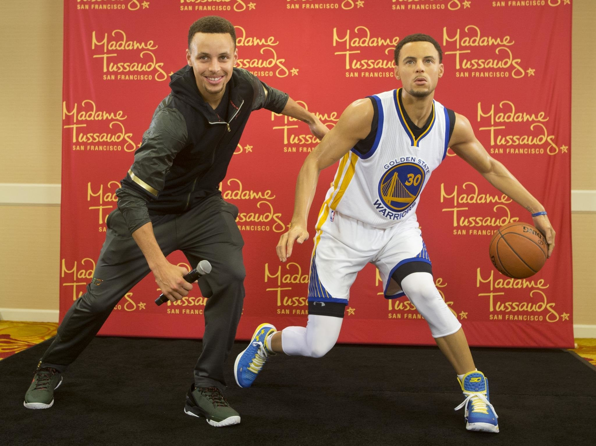 Steph Curry Gets a Wax Figure at Madame Tussauds