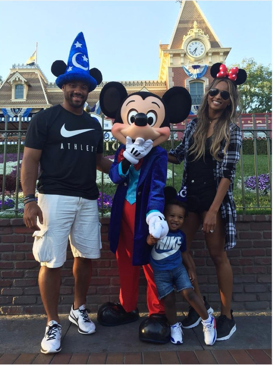 Ciara, Baby Future and Russell Wilson Celebrate Easter at the Happiest Place on Earth