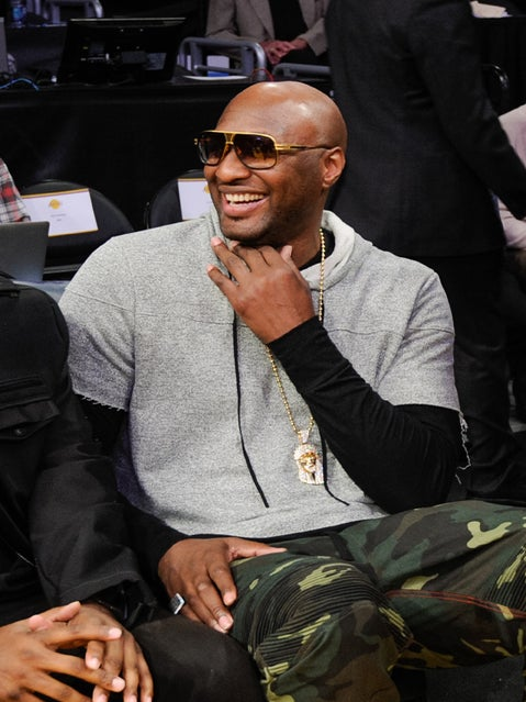 Lamar Odom Makes First Appearance At an NBA Game Since Hospitalization
