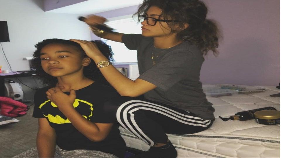 Auntie Duties: Zendaya Styles Her Niece's Hair