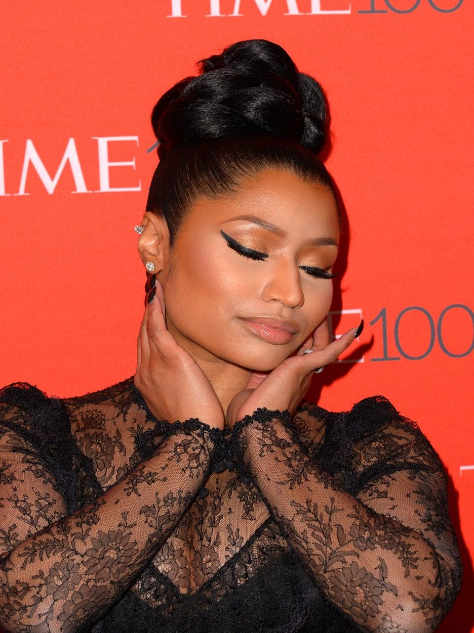 Did You See Nicki Minaj's Sleek Top Knot?