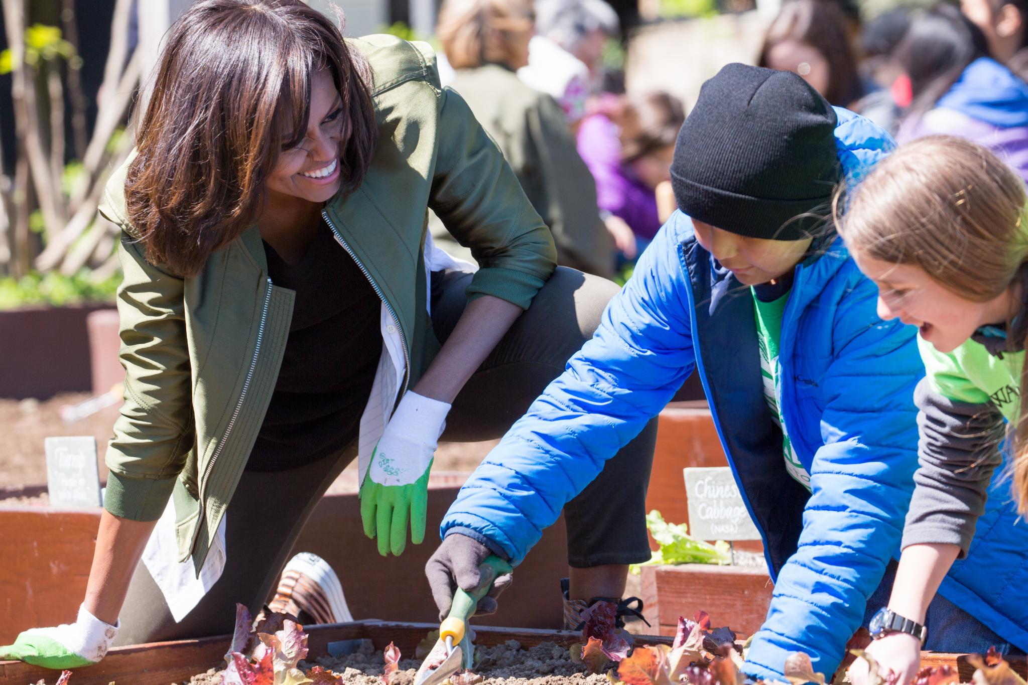 Michelle Obama Holds Final White House Kitchen Gardening Event