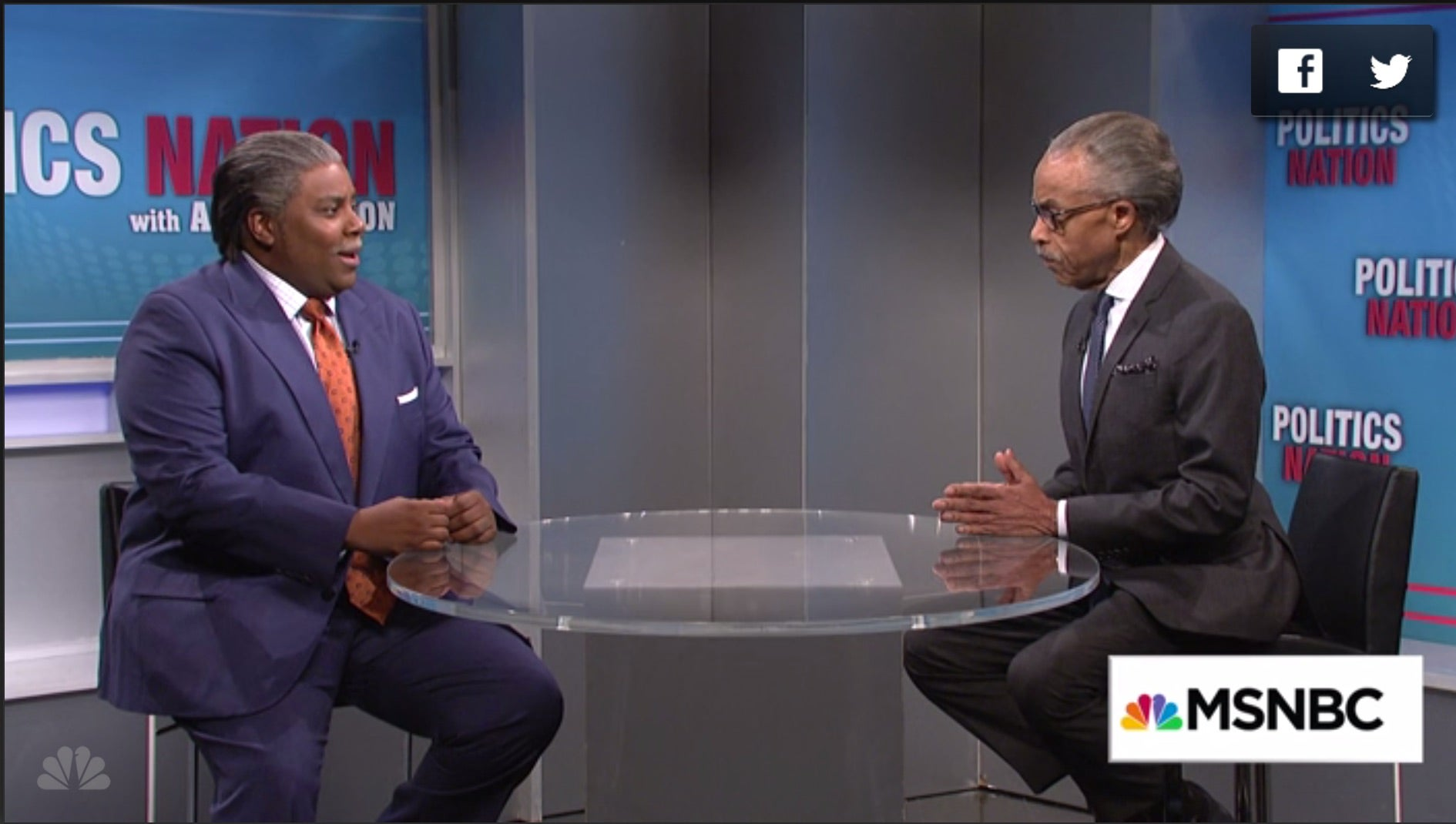 The Real Al Sharpton Comes Face to Face with Kenan Thompson's Al Sharpton on 'SNL'