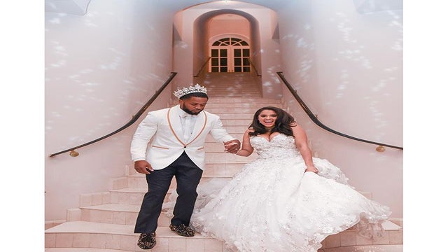 Well, Alright Now! Seahawks Star Wears Crown and Cape To His Wedding