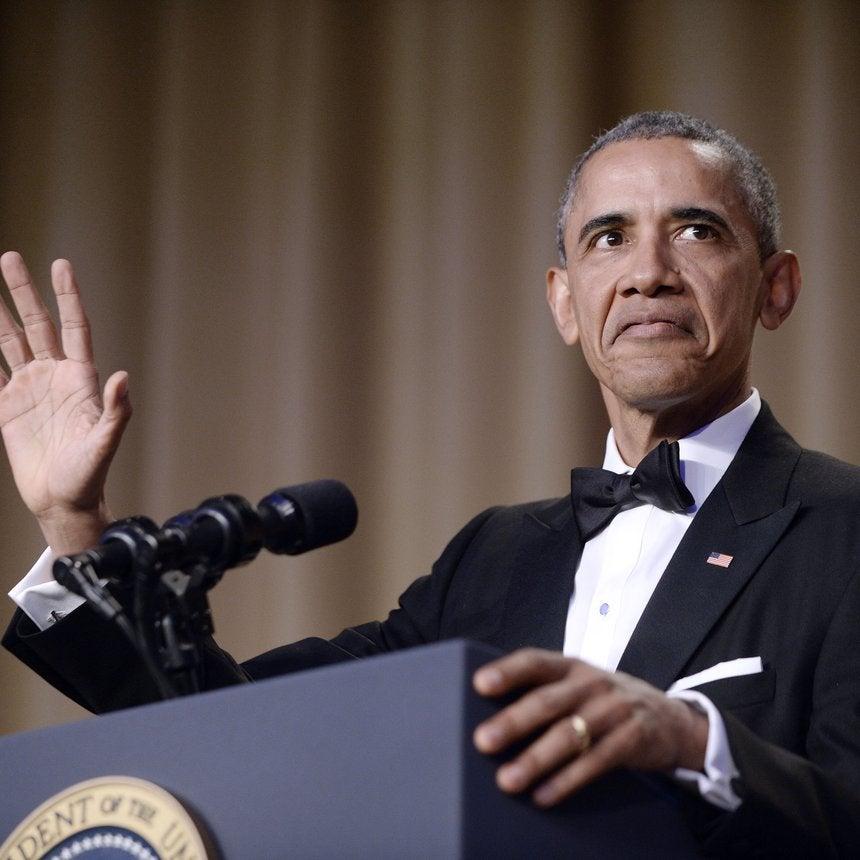 An Epic Mic Drop & a Harriet Tubman Shoutout: President Obama's Final WHCD Speech Was Everything!