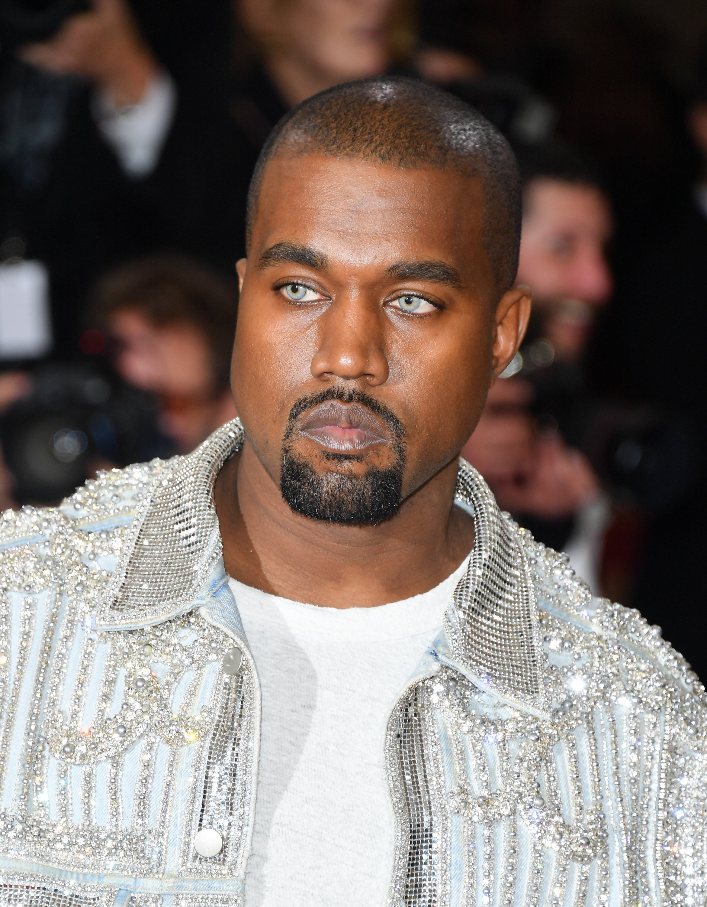 Kanye West Wore Blue Contacts to the Met Gala, Social Media Immediately Responds