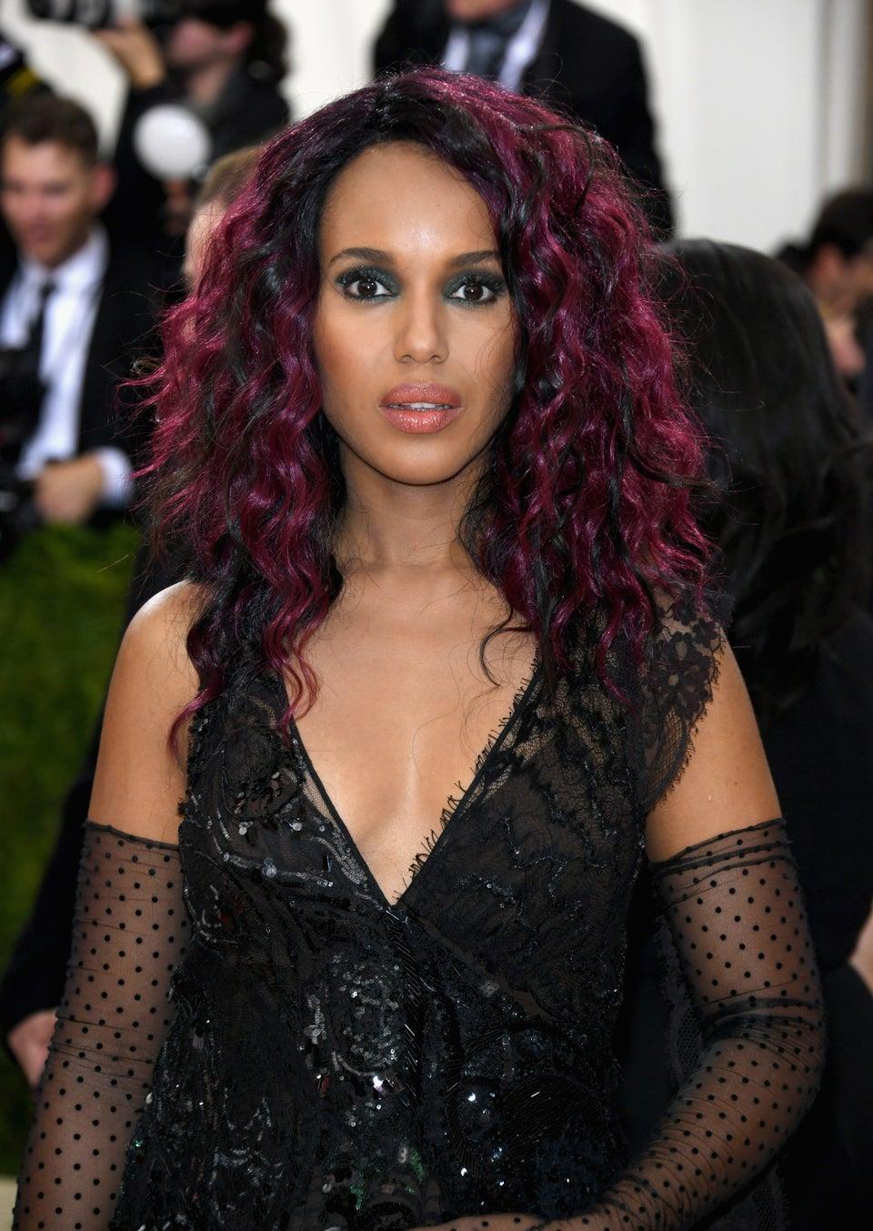 Kerry Washington Hits MET Gala With Purple Hair, Get The Look Now