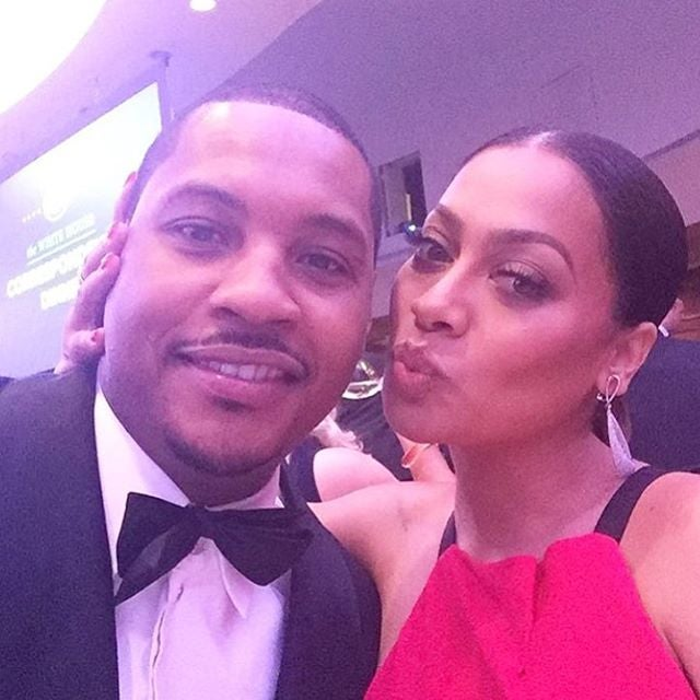 We Just Love the Way LaLa Cheers For Hubby Carmelo On and Off the Court