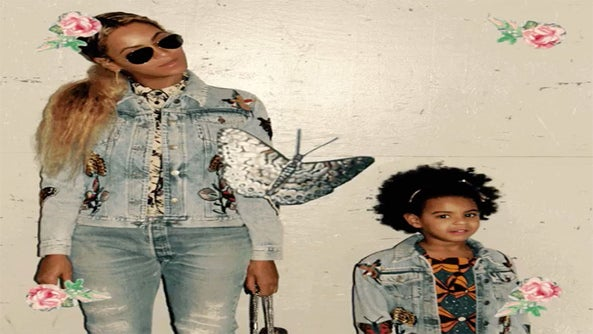 Beyoncé and Blue Ivy Get in Formation with Matching Jean Jackets in Adorable New Photos