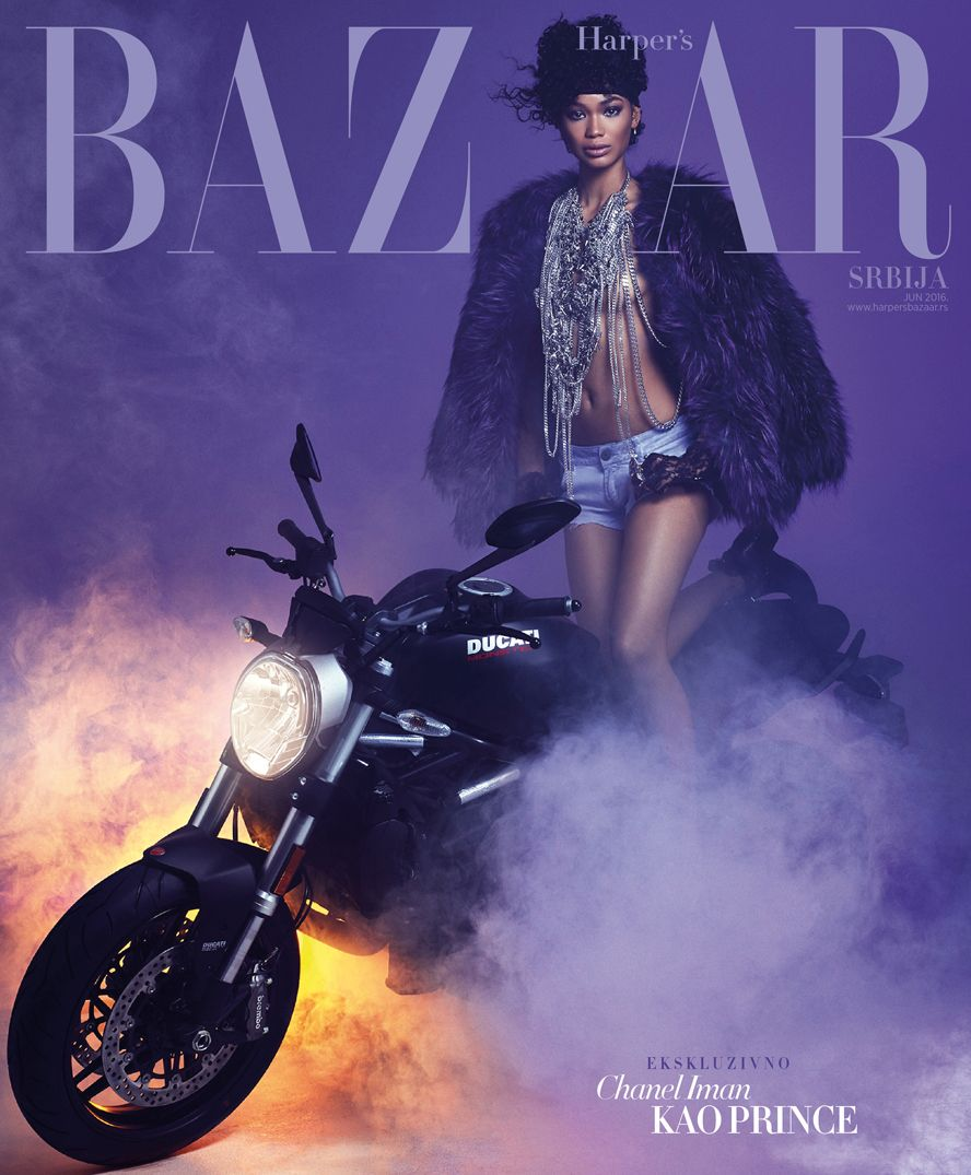 Chanel Iman Channels Prince on Harper's Bazaar Serbia Covers And Nails it