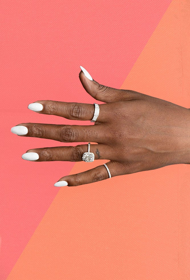 Kelly Rowland's Perfect White Hot Manicure