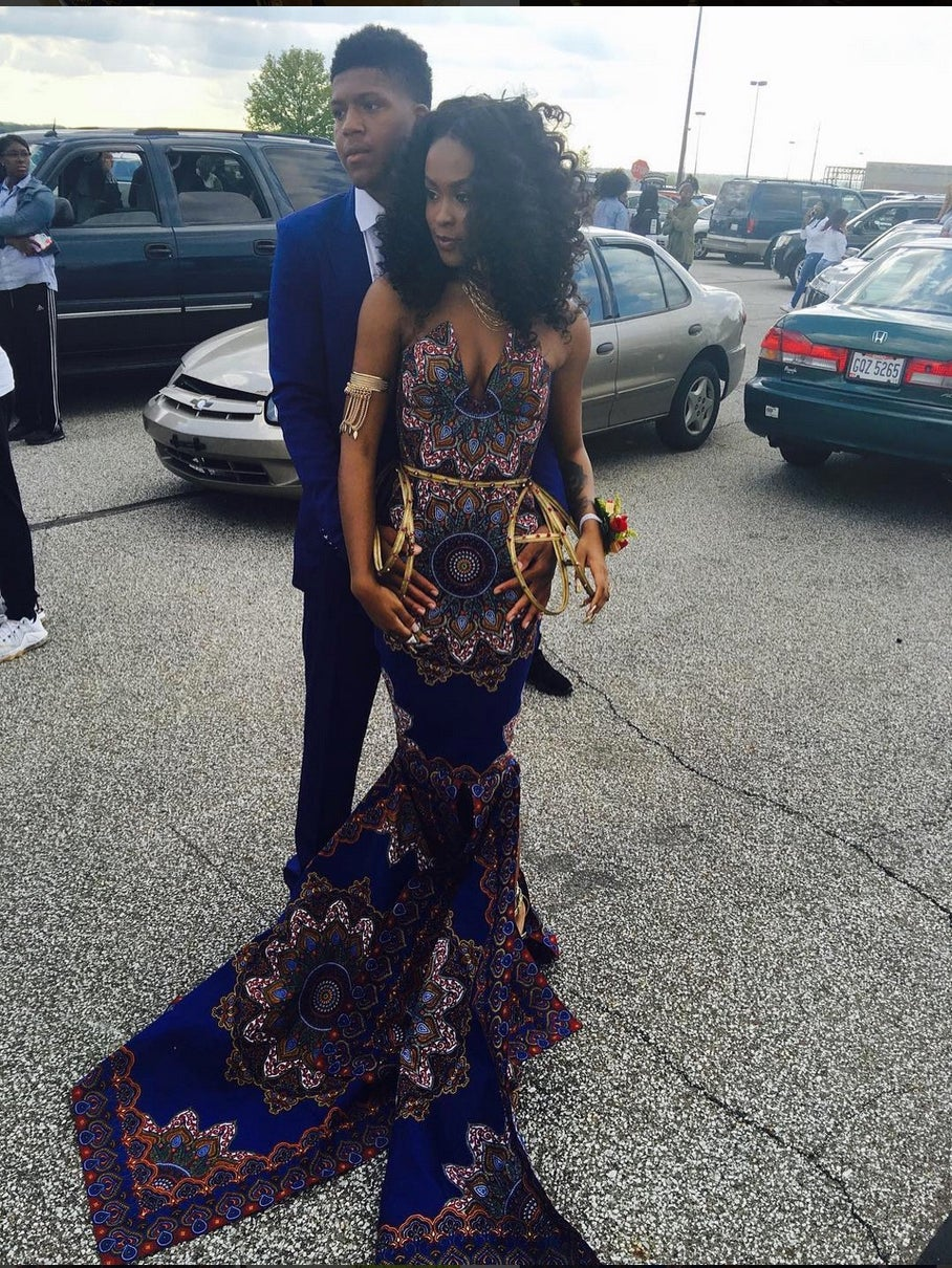 Teen Stuns in African Print Prom Dress, Proves Teacher Who Deemed the Print 'Inapproriate' Wrong