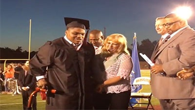 Oklahoma Teen with Cerebral Palsy Walks for First Time At High School Graduation