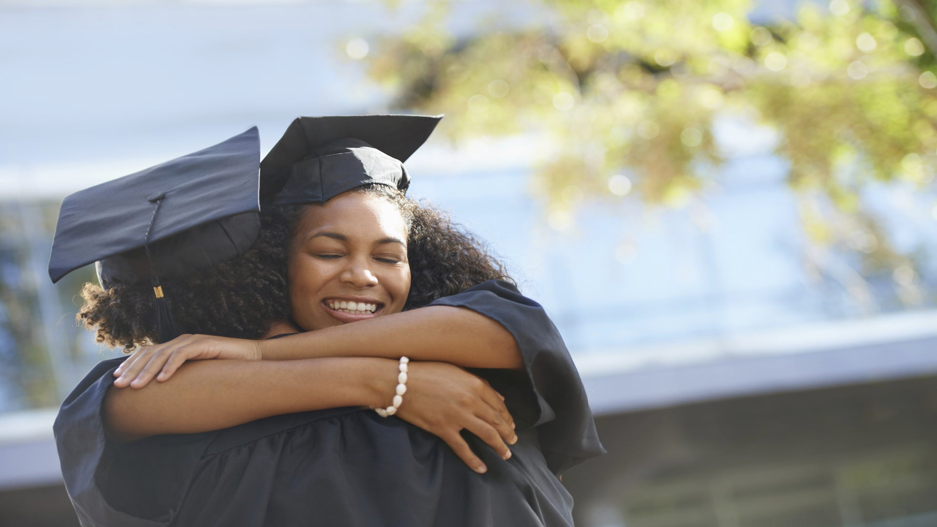 #BlackLoveGoals: Black Man Has Cutest Reaction When Wife Receives Her Master's Degree
