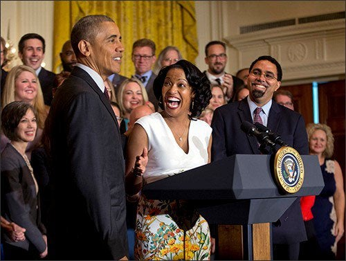 This Teacher's Over-The-Top Reaction to President Obama Will Make Your Day