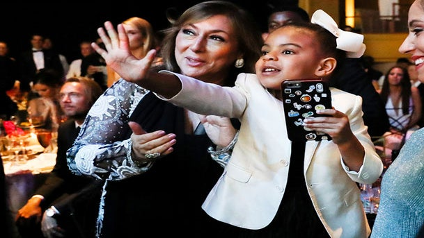 Blue Ivy Has Adorable Moment During Beyonce's CFDA Acceptance Speech