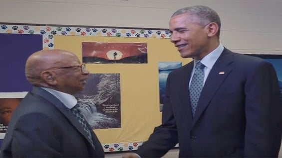 President Obama Met with 108-Year-Old Lester Townsend, the Grandson of a Slave
