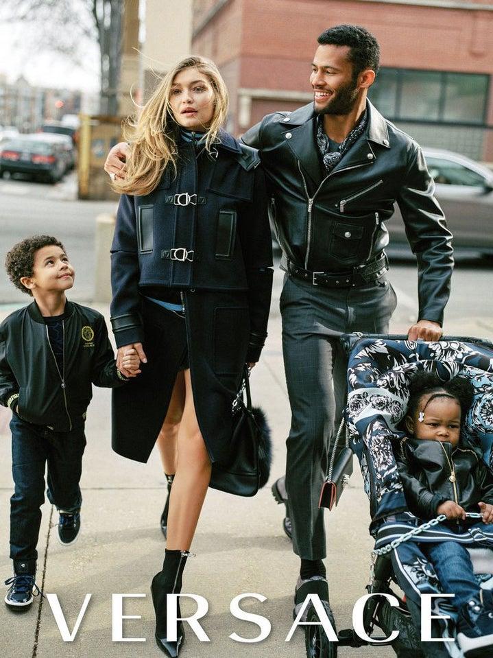Versace Defends 'Unrealistic' Interracial Family Campaign
