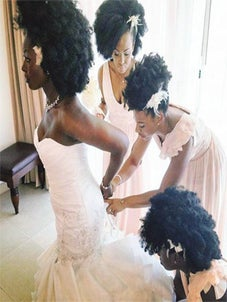 #NaturalHairGoals: Photos of Black Bridal Party Rocking Gorgeous Afros Goes Viral