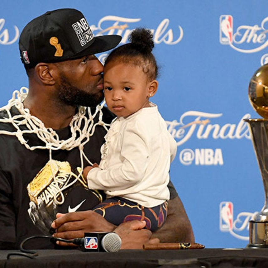 Love and Basketball: LeBron and SavannahJames'Family Album
