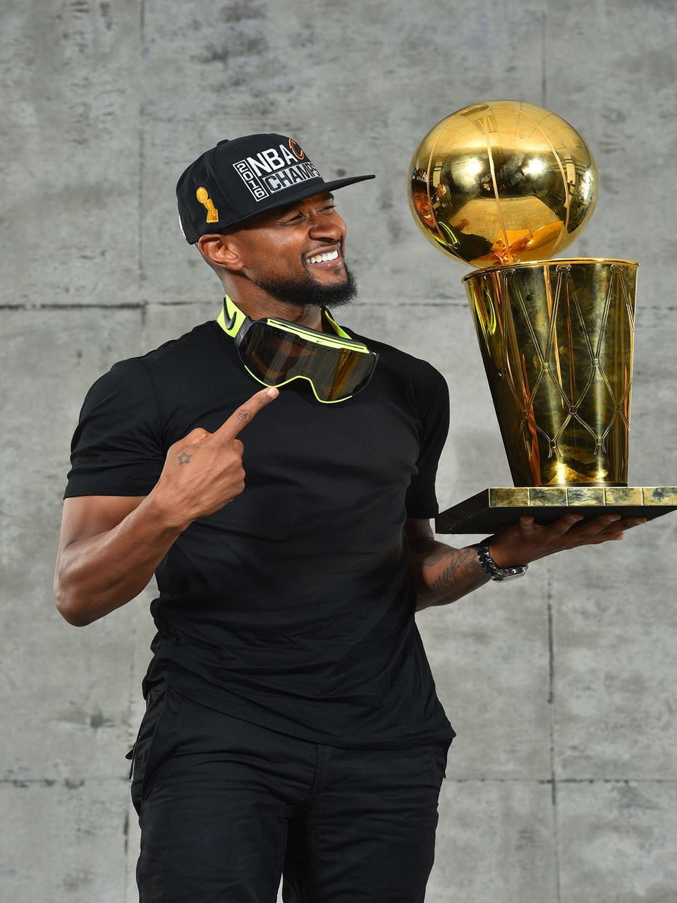Usher Has a Good Reason to Celebrate the Cavs NBA Championship Win