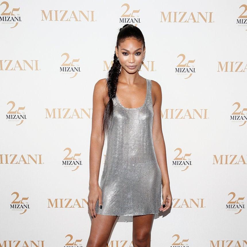 Chanel Iman Takes Mizani 25th Anniversary Event in Stunning Metallic Dress