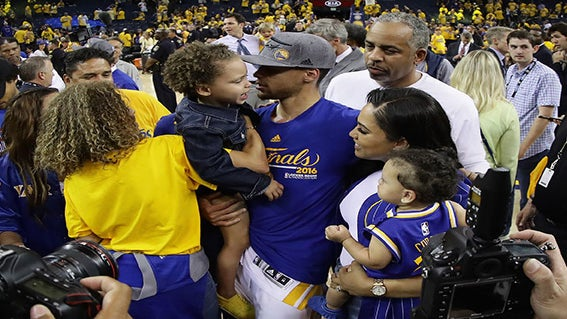 Steph Curry Explains How Riley Consoled Him After the Warriors' Loss in the Finals