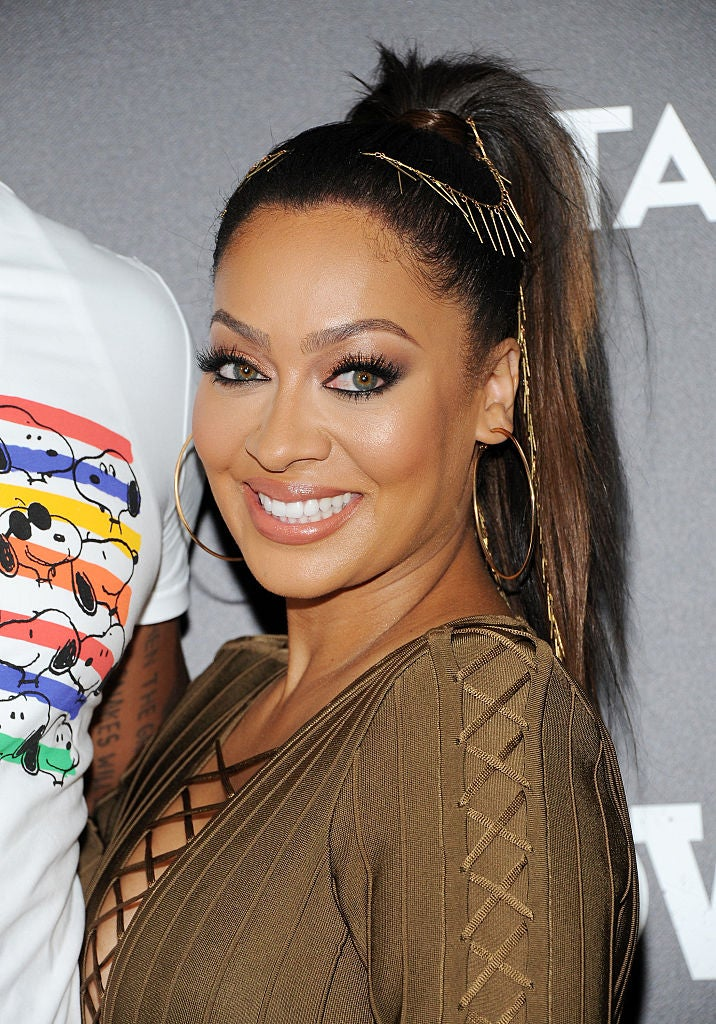 We're Obsessed With La La Anthony's Embellished Ponytail