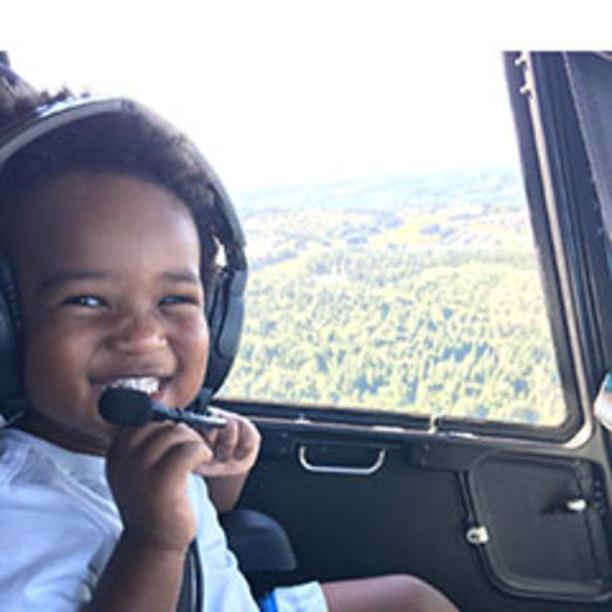 How Cute Does Baby Future Look On This Helicopter Ride?