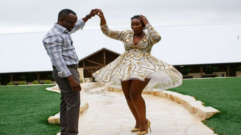 Bride-to-Be's Wig Falls Off During Engagement Shoot and She Owns the Moment