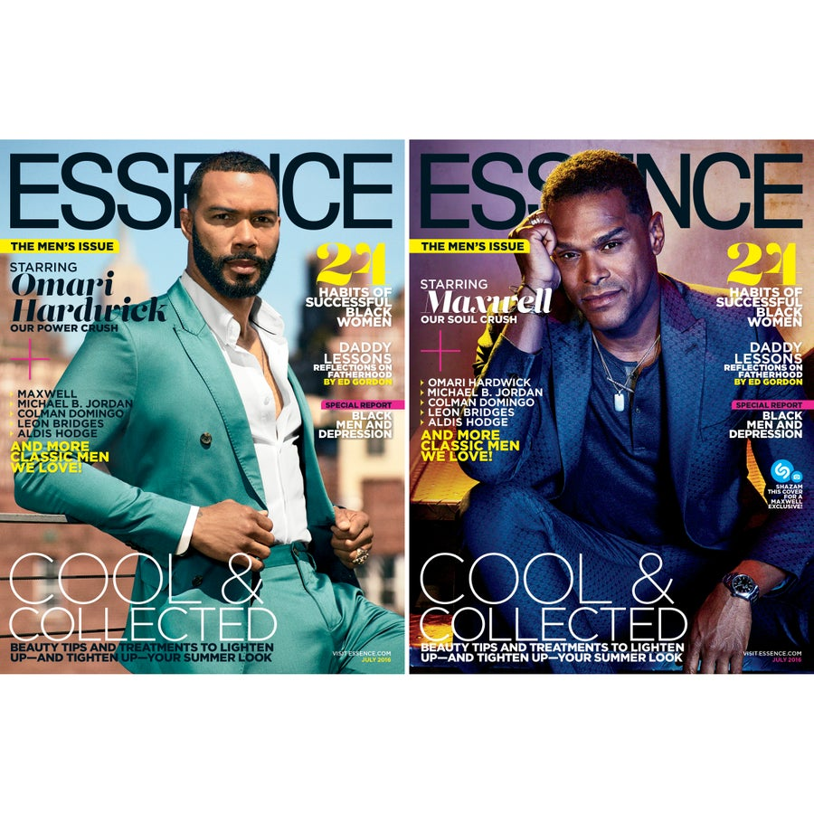 Hel-lo, Eye Candy! Maxwell and Omari Hardwick Sizzle on July Covers of ESSENCE