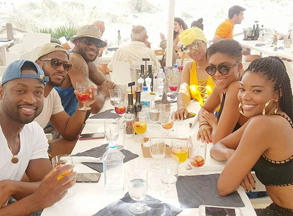 The Wades, The Jameses and the Pauls Are On One Seriously Epic Couples' Vacation