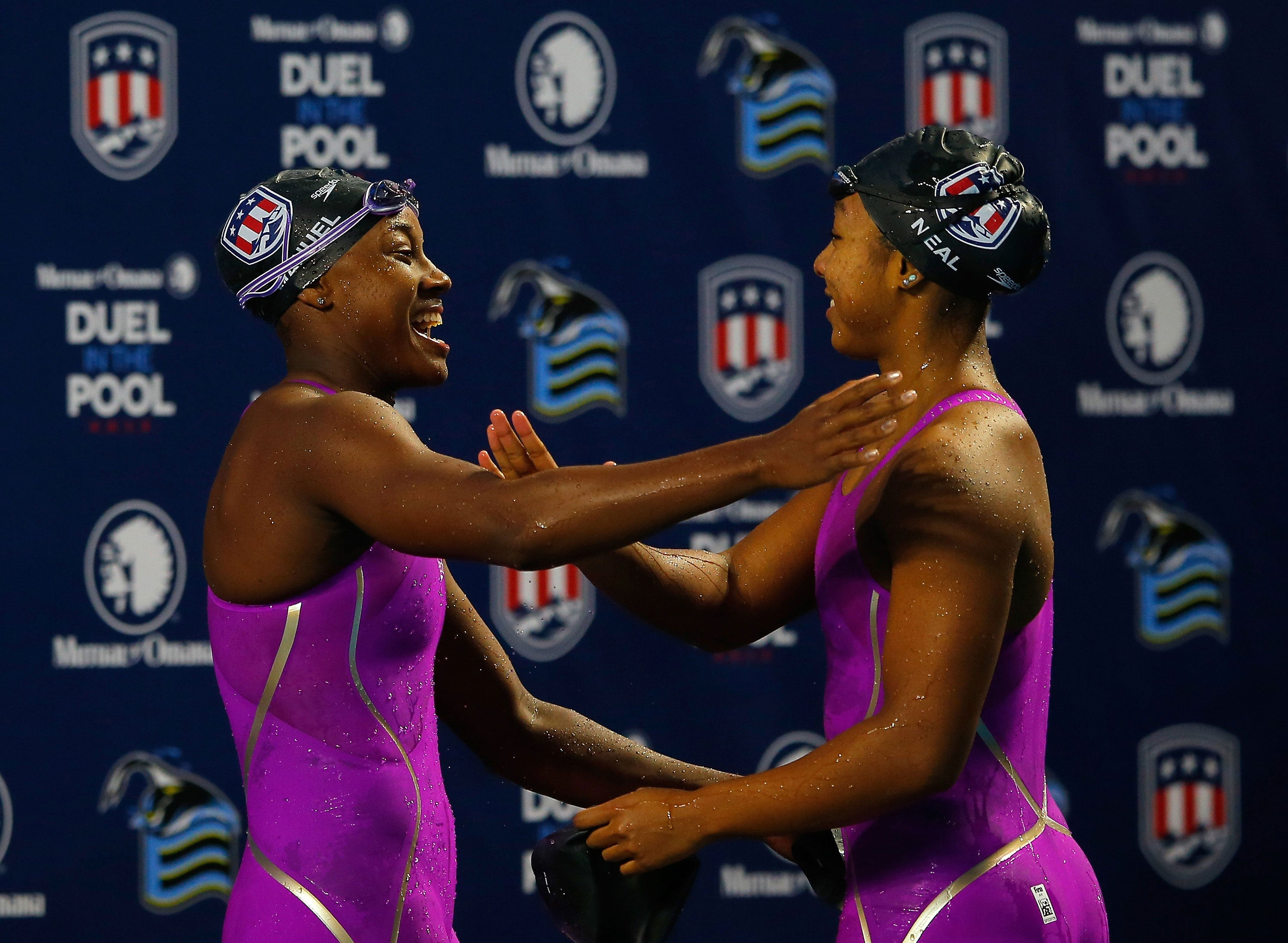 Lia Neal and Simone Manuel Become First Black Duo to Swim Simultaneously on US Olympic Team